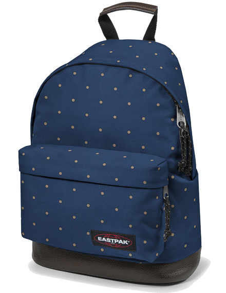 eastpak rucksack wyoming schulrucksack blau mit lederboden. Black Bedroom Furniture Sets. Home Design Ideas