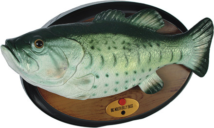 Singender fisch big mouth billy bass original don 39 t worry for Dont worry be happy fish