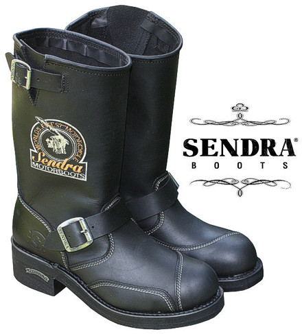 sendra leder stiefel biker boots motorradstiefel schwarz ebay. Black Bedroom Furniture Sets. Home Design Ideas